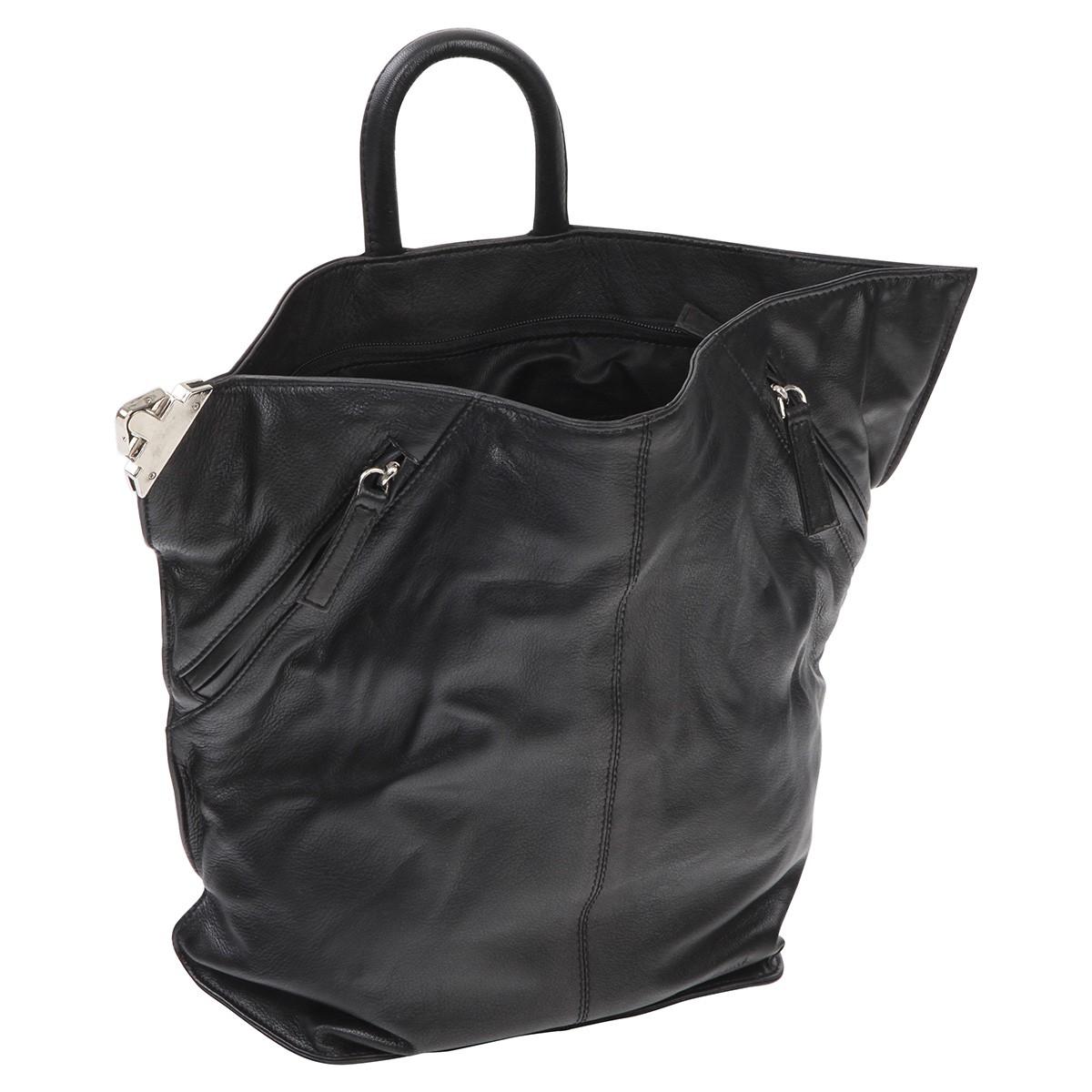 eastline damen rucksack damenrucksack lederrucksack ladies 39 bag city schwarz. Black Bedroom Furniture Sets. Home Design Ideas